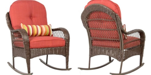 Walmart: Wicker Rocking Chair Only $119.95 Shipped (Reg. $299.99) – Weather & Stain Resistant