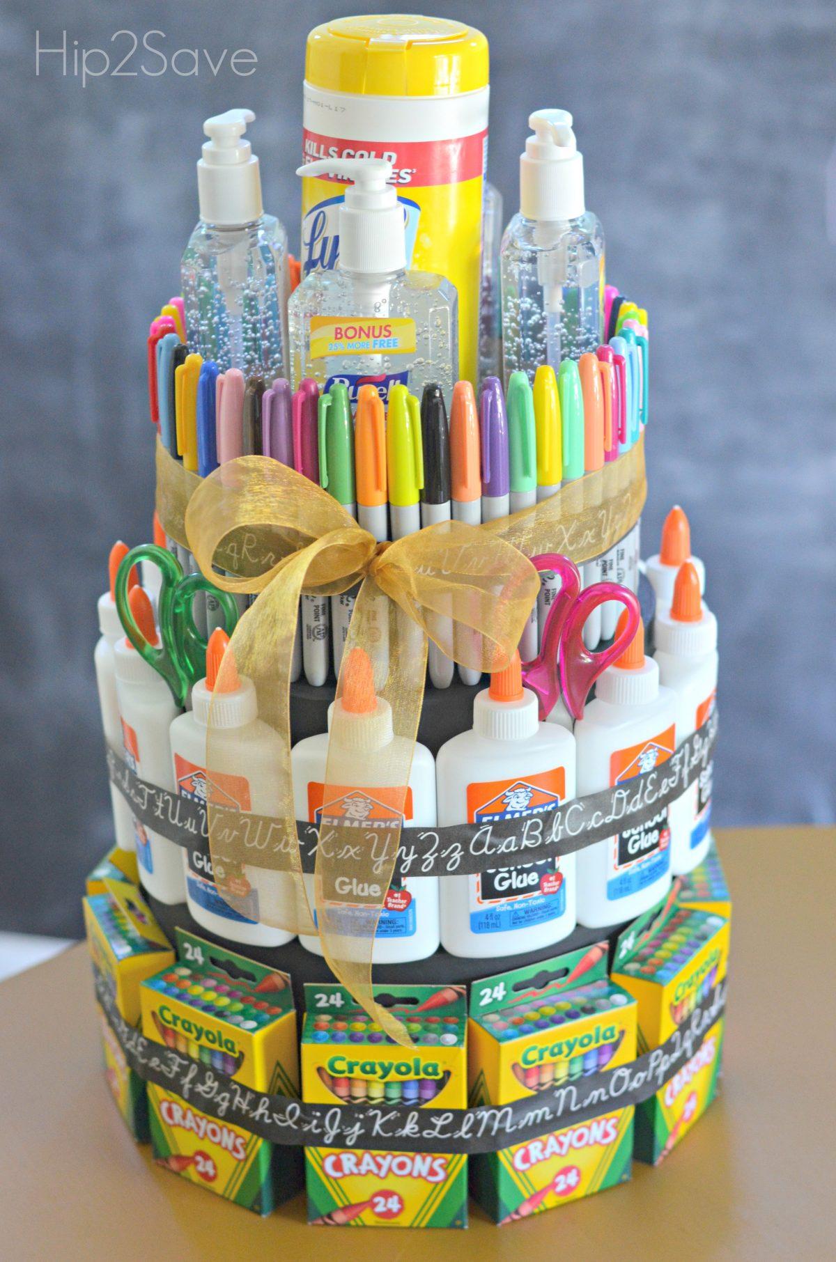 School Supplies Tower Gift
