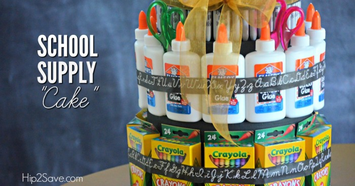 Easy School Supply Cake by Hip2Save.com