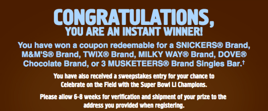 Snickers Sweepstakes: Enter For a Chance To Win FREE Candy Bars