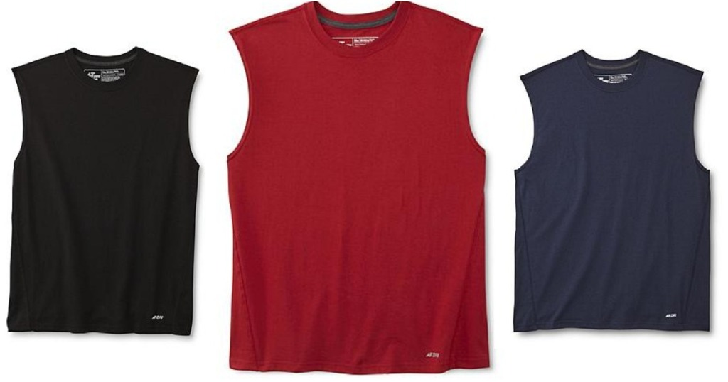 fe142f1e92cb8 Kmart   HOT  TWO Men s Athletech Activewear Shirts Only 96¢ After ...