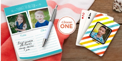 Jo-Ann Email Subscribers: Possible FREE Shutterfly Notepad or Playing Cards (Check Inbox)