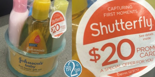 5 new Baby & Children's Coupons = Johnson's Gift Set $7.87 + $20 Shutterfly Code at Walgreens