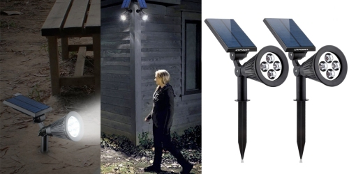 Amazon: Two Waterproof LED Solar Spotlights Only $22.99 (Regularly $59.99)