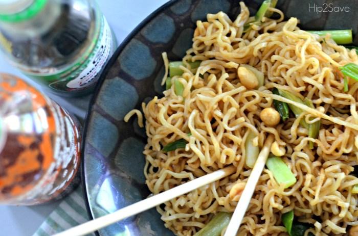 Spicy Peanut Ramen Noodles