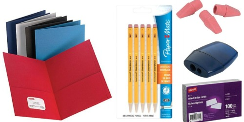 Staples: Back to School Deals Starting July 31st (FREE Bic Pens, 17¢ Folders & More)