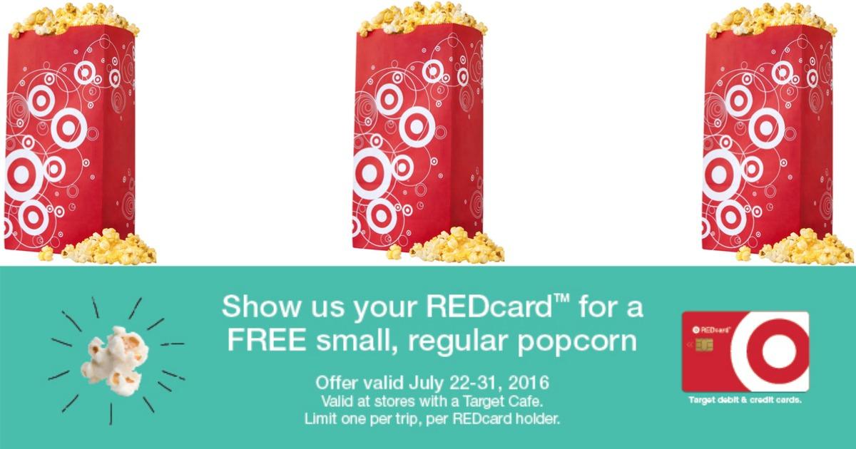Target REDCard Free Popcorn
