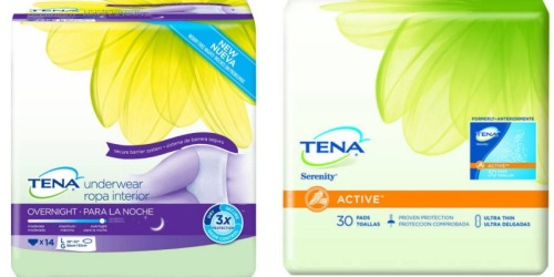 Request a $14/1 TENA Underwear Product Coupon By Mail + FREE TENA Trial Kit & More