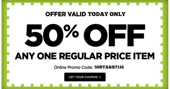 Michaels 50 Off One Regular Priced Item In Store Online