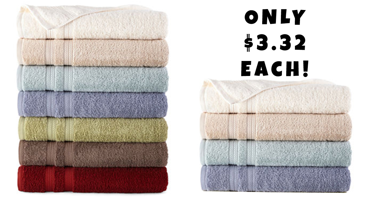 Jcpenney New 10 Off 25 Coupon Bath Towels Just 3 32