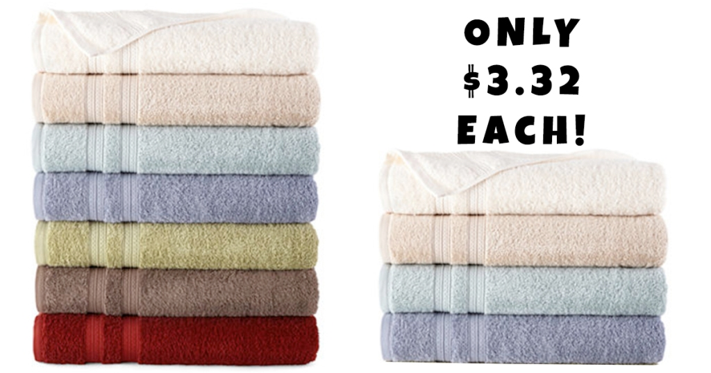 f7a869d490db JCPenney  New  10 Off  25 Coupon   Bath Towels Just  3.32 Each ...