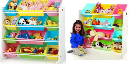 Amazon: Highly Rated Kids' Toy Organizer with Pastel Storage Bins Just $36.89 (Regularly $59.88)