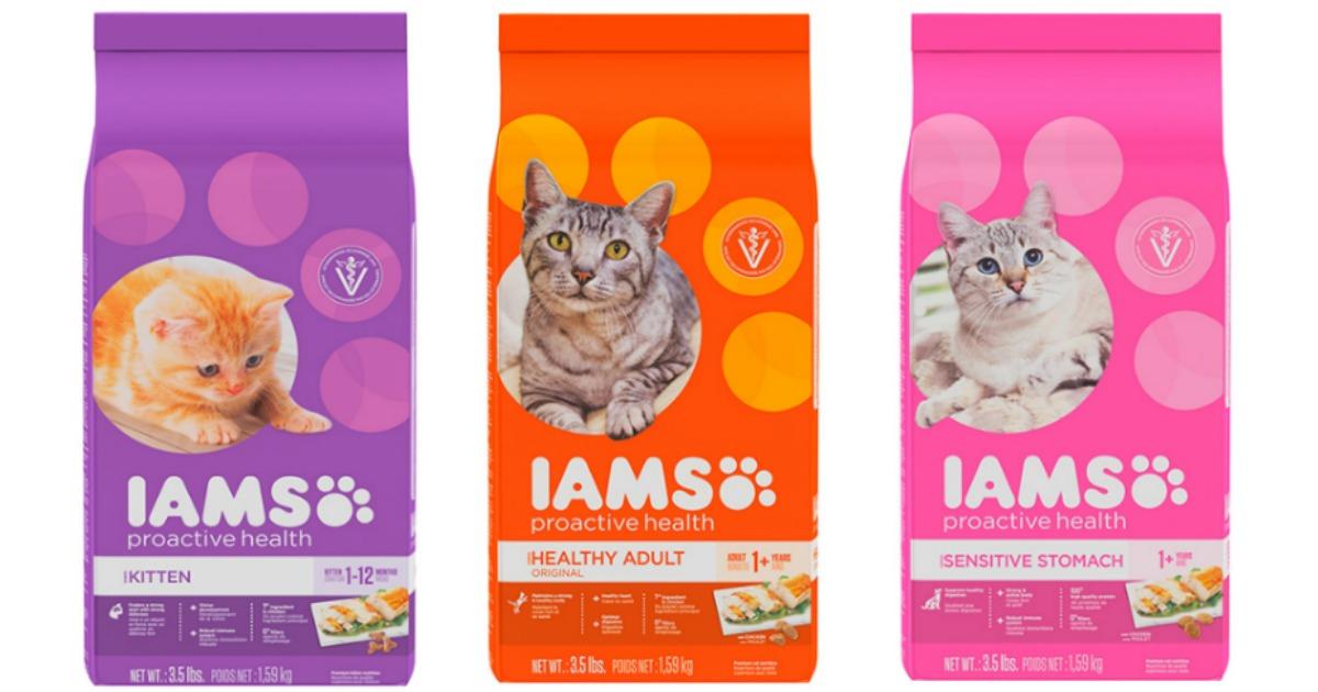 photograph about Iams Printable Coupon called Contemporary $2.50/1 Iams Cat Food items Coupon \u003d 7-Pound Bag Just $4.59 at