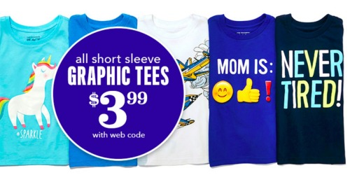 The Children's Place: Graphic Tees Only $3.99 Shipped + BIG Savings on Clearance