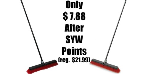 Sears: Craftsman 24″ Dual Fill Push Broom Only $7.88 After SYW Points (Regularly $21.99)