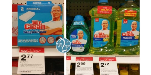 Target: Mr. Clean Magic Eraser 2ct & All Purpose Cleaner Only 90¢ Each (After Gift Card)