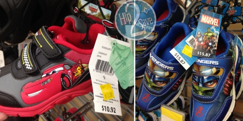 Walmart Clearance: Licensed Boys' Shoes Possibly Just $3 (Regularly Up to $15.87)