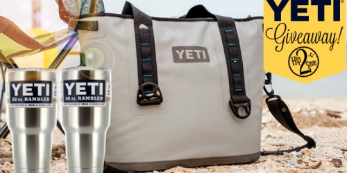 Hip2Save Giveaway: Enter to Win Yeti Hopper Cooler AND 2 Yeti Tumblers ($500+ Value)