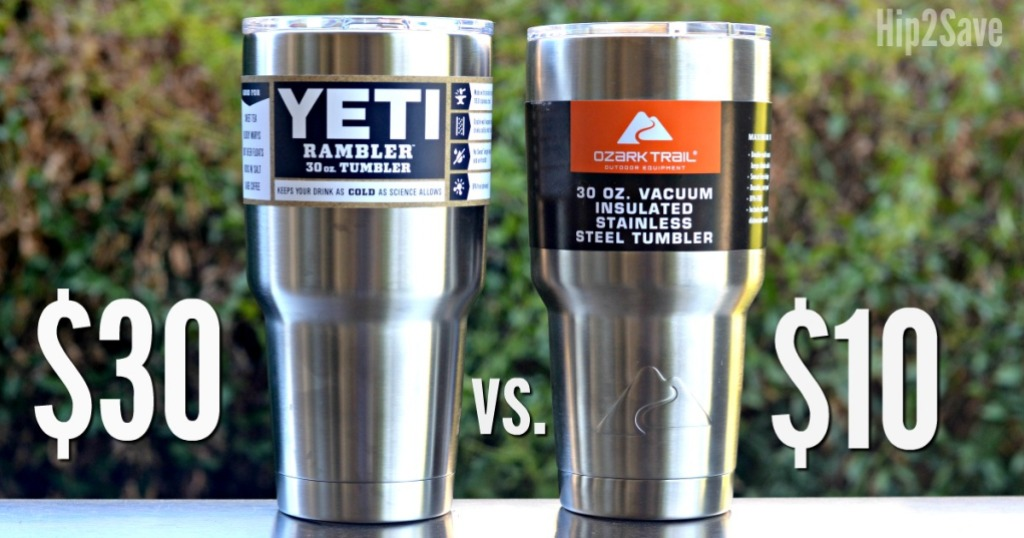 Yeti Vs. Ozark Tumbler Test Hip2Save.com