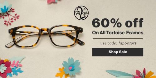 GlassesUSA: 60% Off Tortoise Frames & Free Shipping = Prescription Glasses $19.20 Shipped