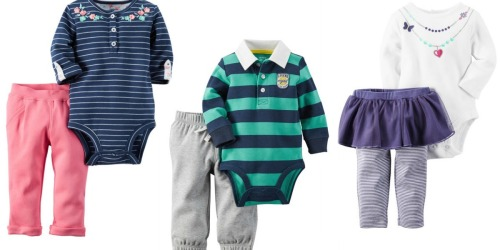 Carter's & OshKosh: 15% Off + Free Shipping = Carter's 2-Piece Bodysuit Sets Only $9 Shipped