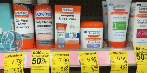 Walgreens: AcneFree Face Wash and Cleansing Pads Only 24¢ Each (After Ibotta)
