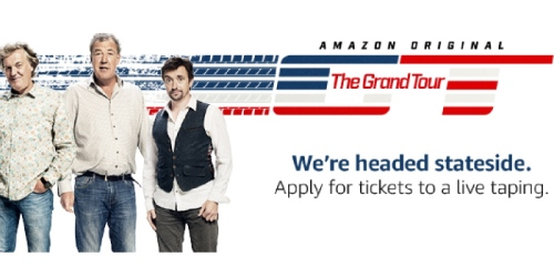 Amazon Customers: Apply for Free Tickets to LIVE Taping of New Amazon Prime Series The Grand Tour