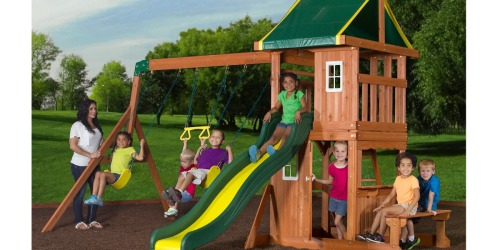 Walmart Clearance: Cedar Swing Set Possibly Only $99 (Regularly $499) & More Finds