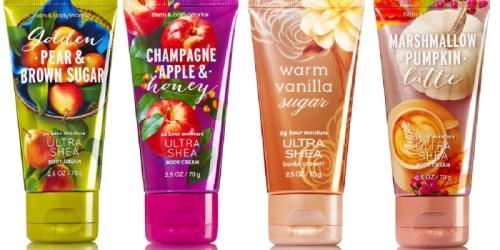 Bath & Body Works: Travel Size Body Creams ONLY $2.50 Each (Regularly $6)