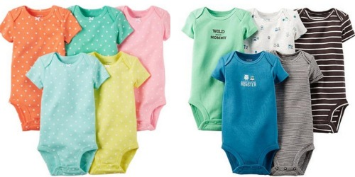 Sears: Carter's Baby Bodysuits 5-Packs Only $6.99 (Reg. $26) – Just $1.40 Per Bodysuit