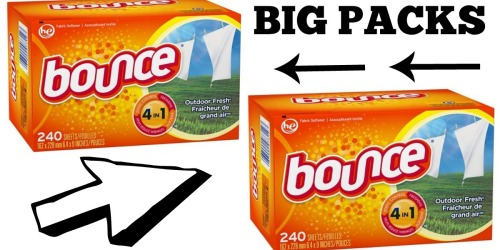 Target: Bounce Dryer Sheets 240-Count BIG Packs Only $4.56 Each (50% Off)