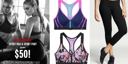 Victoria's Secret: Sports Bra AND Sports Pants Only $50 (In-Store Only) – $100+ Value