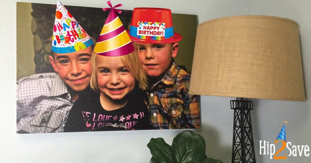 birthday canvas