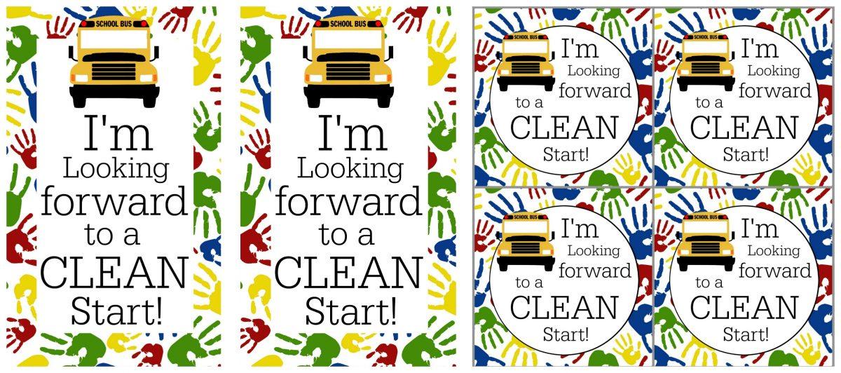 Clean Start Printable Tags