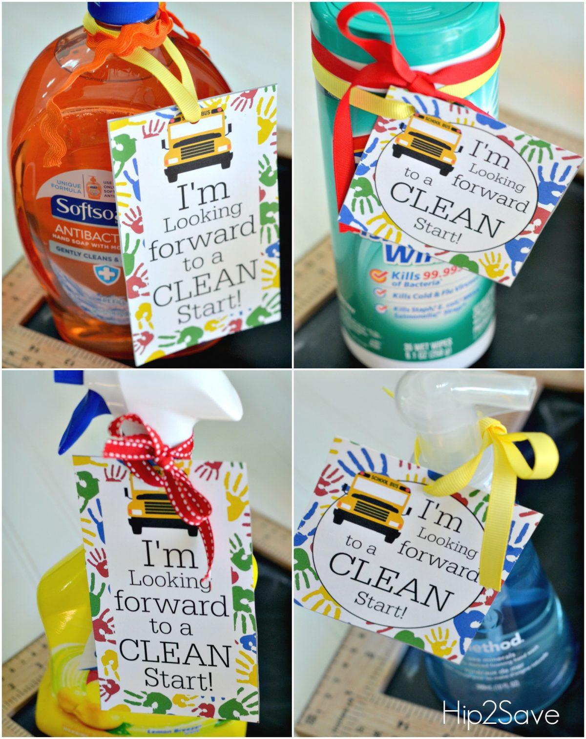 Cleaning Supplies Teacher Gift Hip2Save.com
