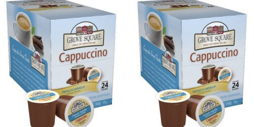 Amazon: Grove Square Cappuccino K-Cups 24-Pack Only $7.38 Shipped (Just 33¢ Each!)