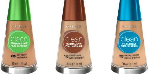 Target Cartwheel: 30% Off CoverGirl Clean Liquid Foundation Offer = As Low As Just $2.70 (Reg. $5.99)