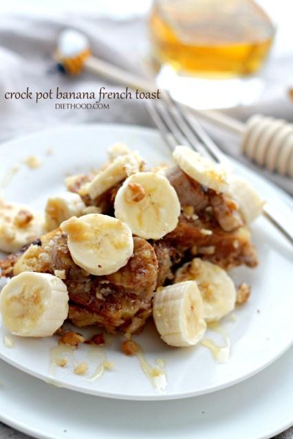 Crock Pot Banana French Toast