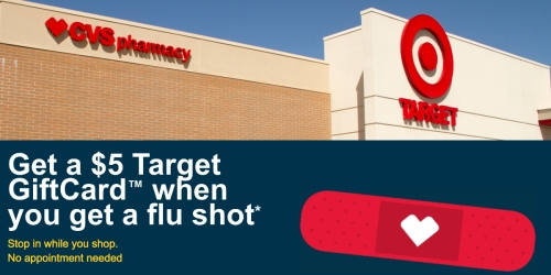 Get Your Flu Shot at CVS Pharmacy in Select Target Stores and Get a FREE $5 Target Gift Card!