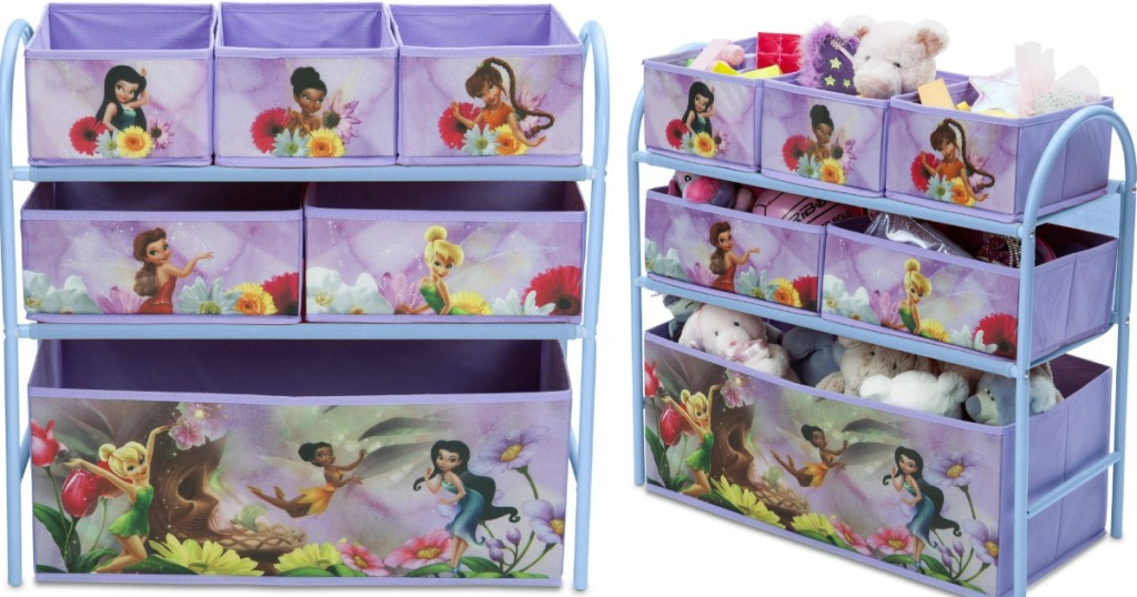 Disney Fairies Metal Multi-Bin Toy Organizer