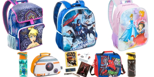 Disney Store: 50% Off Back To School Gear = Backpacks Only $12 & More