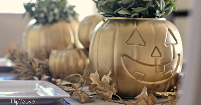 Transform a Dollar Store Pumpkin into THIS with Spray Paint…