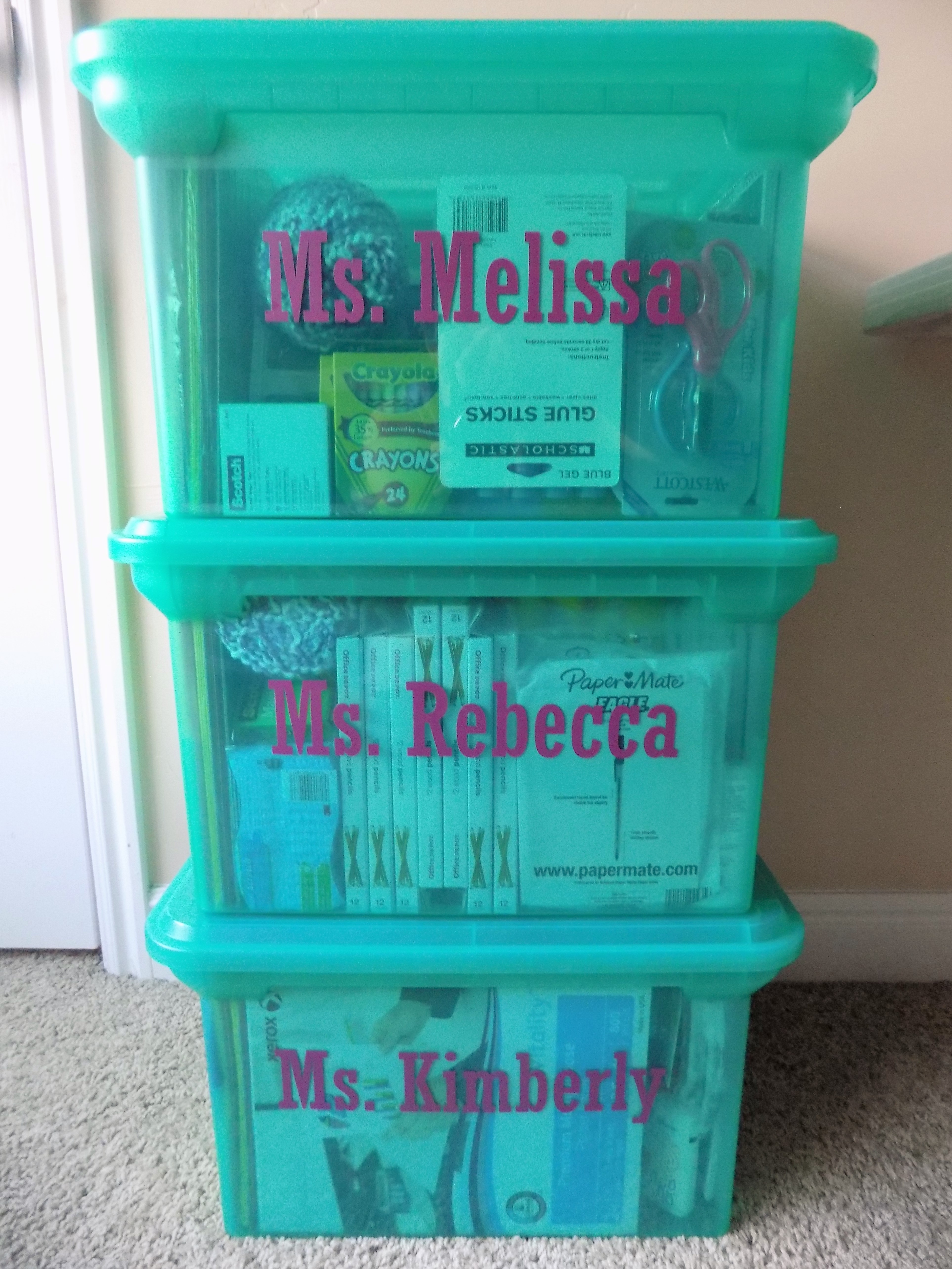 Back To School Classroom Donation Totes