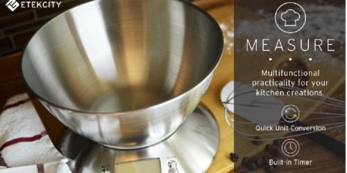 Amazon: Etekcity Stainless Steel Digital Kitchen Scale w/ Detachable Bowl ONLY $14.38