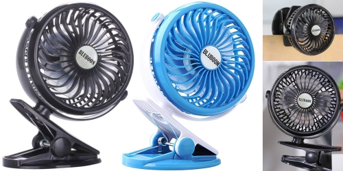 Amazon: USB/Battery Operated Clip-On Fan Only $12.99 – Perfect For Strollers & More