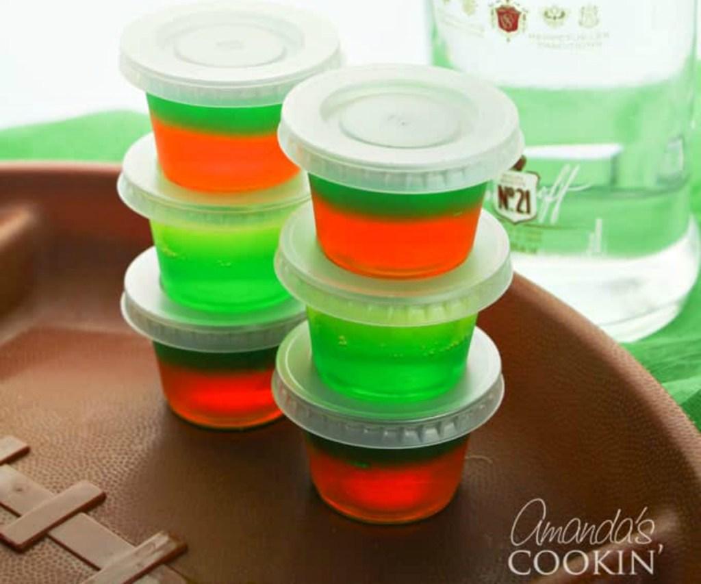 portable jello shots for football games