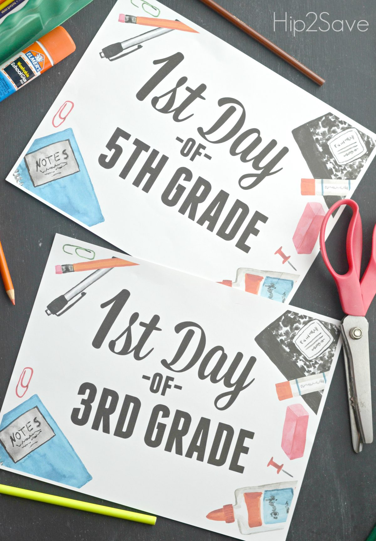 picture relating to First Day of 5th Grade Printable identified as No cost Initial Working day of University Printable Indicators - Hip2Help save