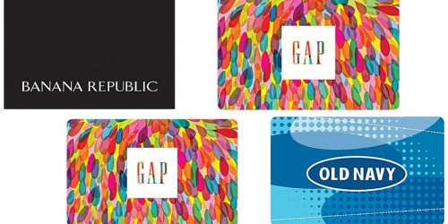$50 GAP or Old Navy Gift Card Only $40 + More