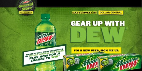 Gear Up With Dew Instant Win Game: 1,000 Win $5 Dollar General Gift Cards (Select States)