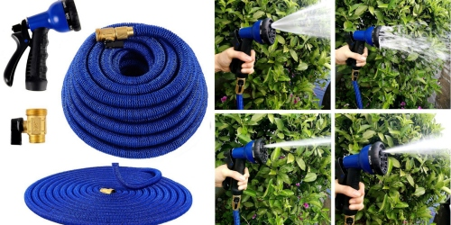 Amazon: Ohuhu Expandable Garden Hose w/ Spray Nozzle ONLY $27 – Never Tangles or Kinks